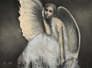 Angelic Pastels Prints - Patient Companion Print by Rebekah Sisk