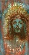 Christ Painting Originals - Patina Christ by Luis  Navarro