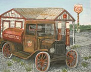 Service Station Paintings - Patina by Larry Lamb
