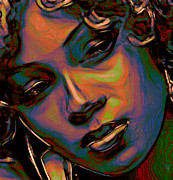 Girl Profile Digital Art - Patina Reflections by Byron Fli Walker