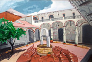 Patio Colonial Print by Lazaro Hurtado