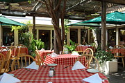 Outdoor Dining Prints - Patio Dining At The Swiss Hotel In Downtown Sonoma California 5D24439 Print by Wingsdomain Art and Photography
