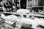 Wine Shop Prints - Patisserie Boulangerie With Local Catalan Speciality Pastries Wine Bread In Mont-louis Pyrenees-orie Print by Joe Fox