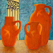 Pottery Paintings - Patriarchs by Sandra Neumann Wilderman