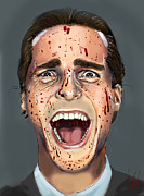 Bale Digital Art Metal Prints - Patrick Bateman Metal Print by Vinny John Usuriello
