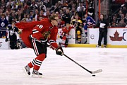 Puck Framed Prints - Patrick Kane Epic Poster Framed Print by Sanely Great