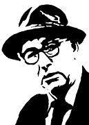 Novelist Paintings - Patrick Kavanagh famous Irish writer by Monofaces