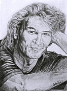 Leading Singer Framed Prints - Patrick Swayze Framed Print by Janet Hull