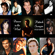Movie Mixed Media - Patrick Swayze Tribute by Amanda Struz