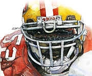 Michael Pattison Mixed Media Prints - Patrick Willis - Force Print by Michael  Pattison