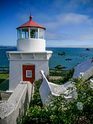 Patrick Framed Prints - Patricks Point Lighthouse Framed Print by Jim DeLillo