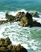 Patricks Point Rocks Print by Alice Leggett