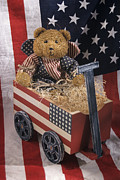 Seimagesonline Prints - Patriot Bear Print by Sharon Elliott