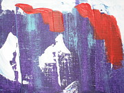 Patriotic Paintings - Patriotic Abstract by Dotti Hannum