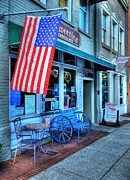 Storefronts Prints - Patriotic Chocolates Print by Mel Steinhauer