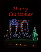 Cheer On Photo Posters - Patriotic Christmas Poster by Francie Davis
