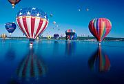 Jerry Mcelroy Metal Prints - Patriotic Hot Air Balloon Metal Print by Jerry McElroy