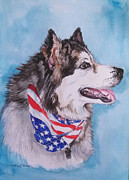 Patriotic Paintings - Patriotic Joe by Carole Powell