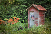 Ldeiter78 Digital Art - Patriotic Outhouse by Lori Deiter