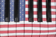 James Insogna Posters - Patriotic Piano keyboard Octave Poster by James Bo Insogna