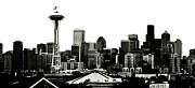 4th July Photo Prints - Patriotic Seattle Print by Benjamin Yeager