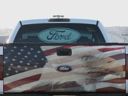 Tailgate Prints - Patriotic Tailgate Print by Steven Parker