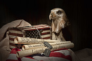 Eagle Metal Prints - Patriotism Metal Print by Tom Mc Nemar