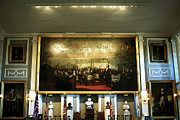 Americana Pictures Prints - Patriots at Faneuil Hall Print by John Rizzuto