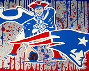 Patriots Painting Prints - Patriots Logo evolution Print by Gary Niles
