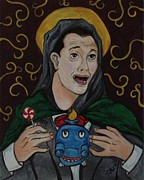 Pee Wee Herman Prints - Patron Saint of the Playhouse Print by Carrie Ann Benson