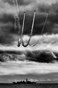 Reva Framed Prints - Patrouille Reva loop in Black and White Framed Print by MJM Images