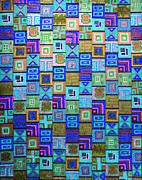 Repetition Drawings - Pattern and Color study2 by Megan Dirsa-DuBois