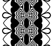 Op Art Digital Art Posters - Pattern Black White Abstract Art No.293. Poster by Drinka Mercep