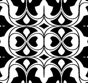 Op Art Digital Art Posters - Pattern Black White Art Print No.300. Poster by Drinka Mercep