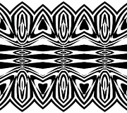 Op Art Digital Art Posters - Pattern Op Art Geometric Black White Print No.160 Poster by Drinka Mercep