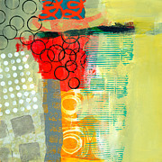 Acrylic Collage Posters - Pattern Study #3 Poster by Jane Davies