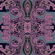 Grey Tapestries - Textiles - Patterns in Violet by Lawrence Lindstrand