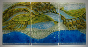 Flora Glass Art Originals - Patterns-Kelp Forest by Michelle Rial