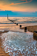 Horizon Metal Prints - Patterns on the Beach  Metal Print by Adrian Evans