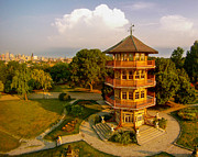 Go Pro Framed Prints - Patterson Park Pagoda Framed Print by Elevated Element