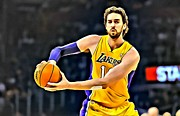 Dunk Framed Prints - Pau Gasol Framed Print by Florian Rodarte
