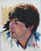 George Harrison Paintings - Paul - 1 by Tachi Pintor