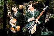 Mccartney Digital Art - Paul and John Guitars by Digital  Hiccup