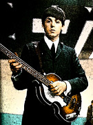 Beatles Digital Art - Paul by Digital  Hiccup