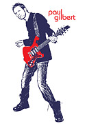 Music Metal Prints - Paul Gilbert No.01 Metal Print by Caio Caldas