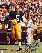 Green Bay Photos - Paul Hornung Signed Poster by Sanely Great