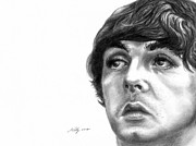 Mccartney Drawings Posters - Paul Poster by Kathleen Kelly Thompson