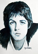 Beatle Paul Painting Originals - Paul Mc Cartney by Maria Barry