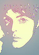 Pop Icon Drawings Posters - Paul McCartney Poster by Giuseppe Cristiano