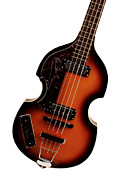 Bass Digital Art Prints - Paul McCartney Hofner Bass  Print by Bill Cannon